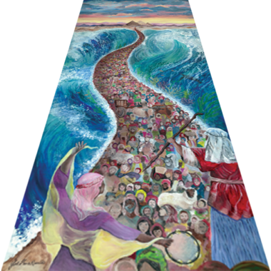 Oil Painting: Splitting of the Sea
