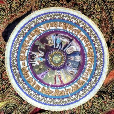 Purim Tambourine Purple